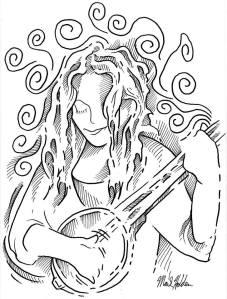 Here We Go_Christine McGrew_Pen & Ink illustration by Mark Holden