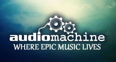 audiomachine logo & tagline.blue sea